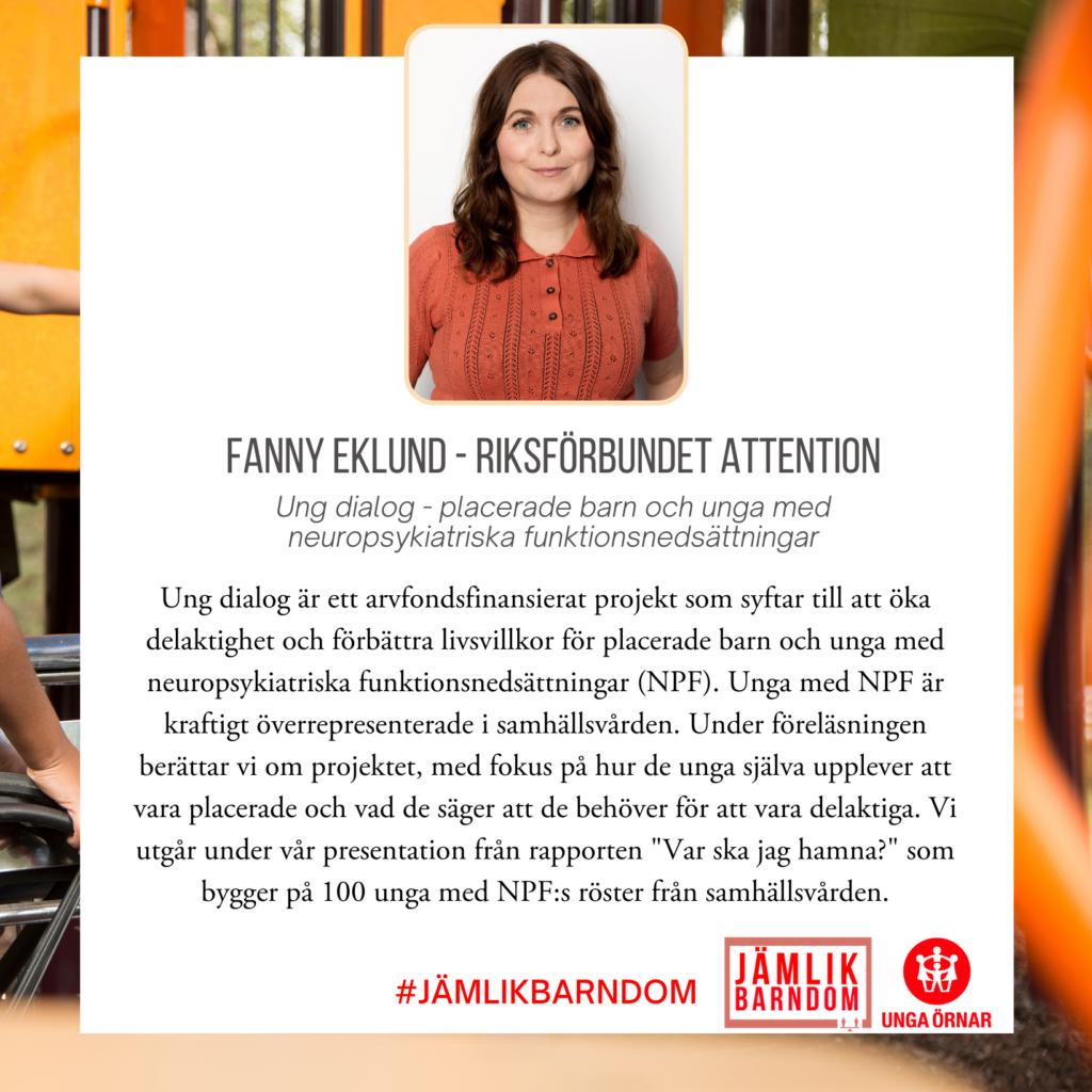 Fanny Eklund - Riksförbundet Attention