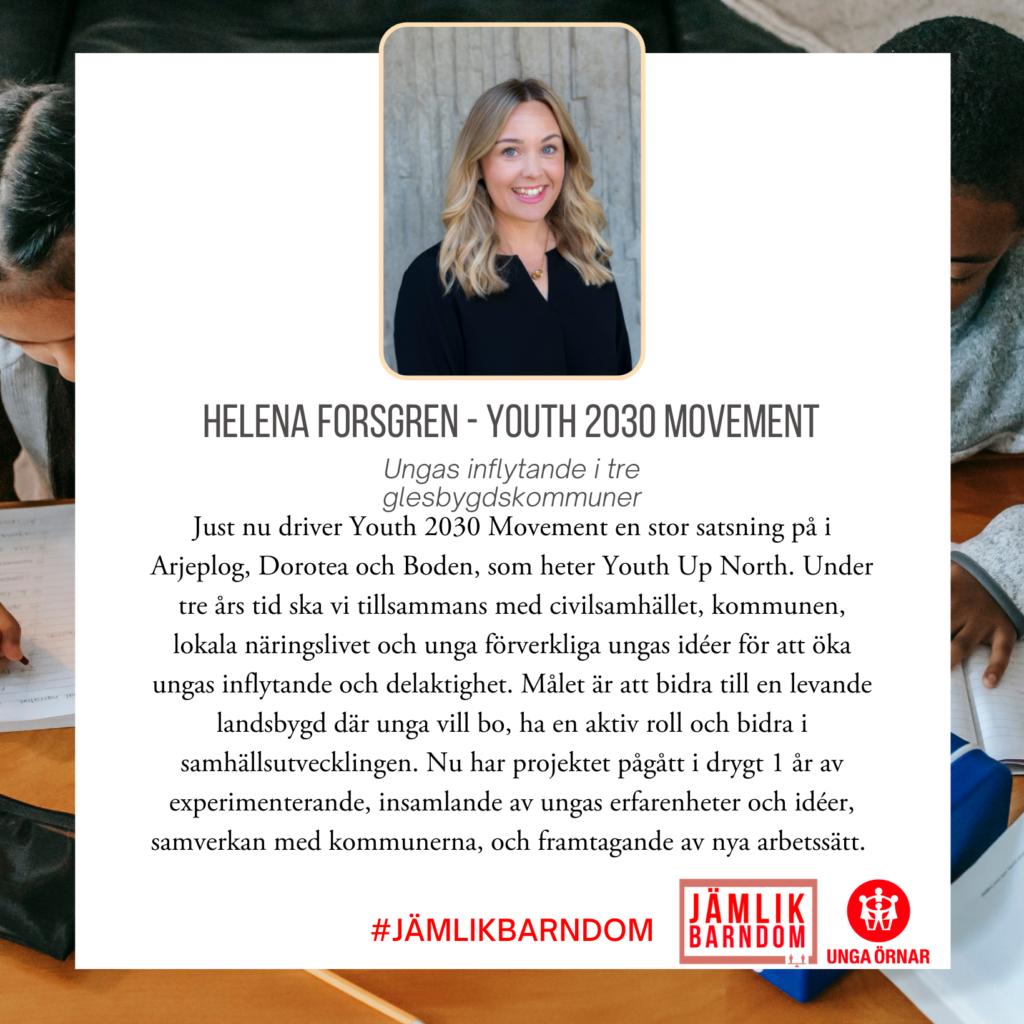 Helena Forsgren - Youth 2030 Movement