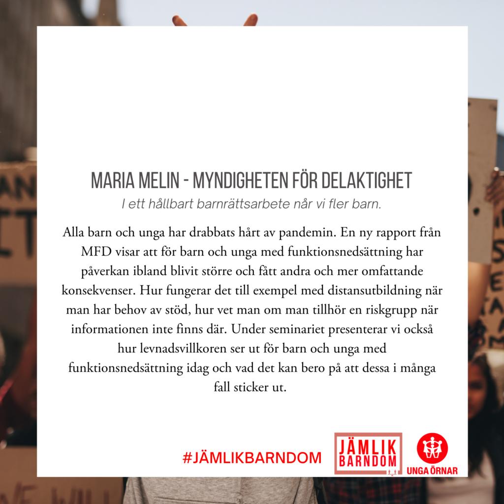 Mara Melin - Myndigheten för Delaktighet