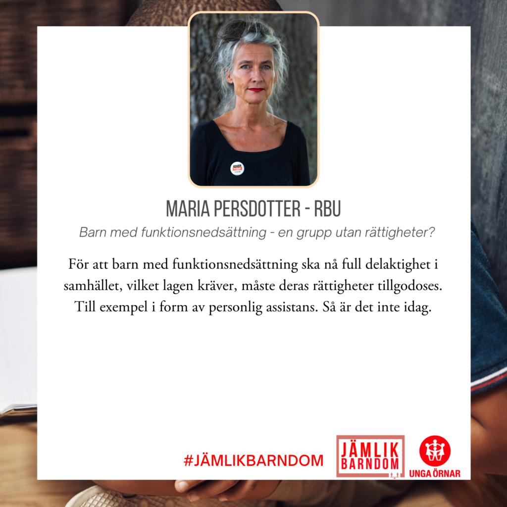Maria Persdotter - RBU