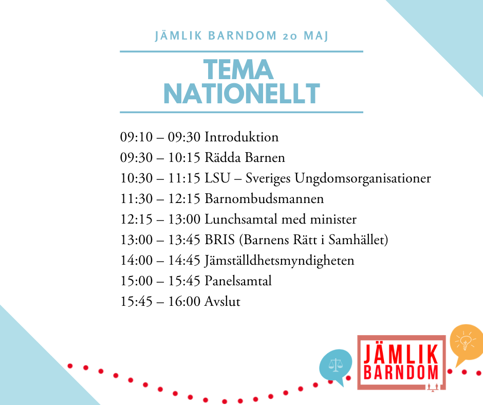 Nationellt - Torsdag 20 maj
