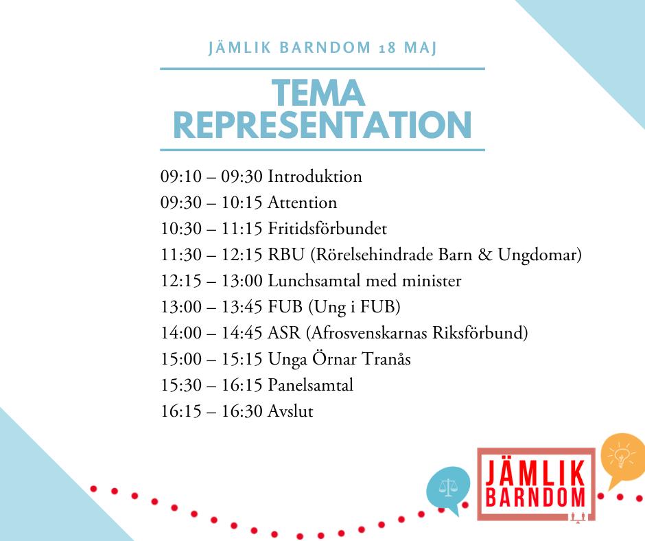 Representation - Tisdag 18 maj